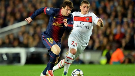 Lionel Messi made an immediate impact on the game, despite being only half-fit