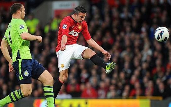 Robin van Persie's hat-trick won United their 20th league title