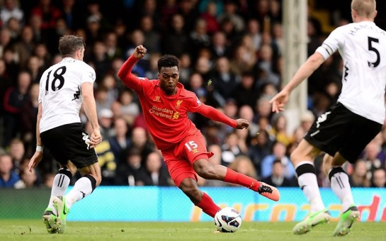 Daniel Sturridge perform's some fancy footwork against Fulham